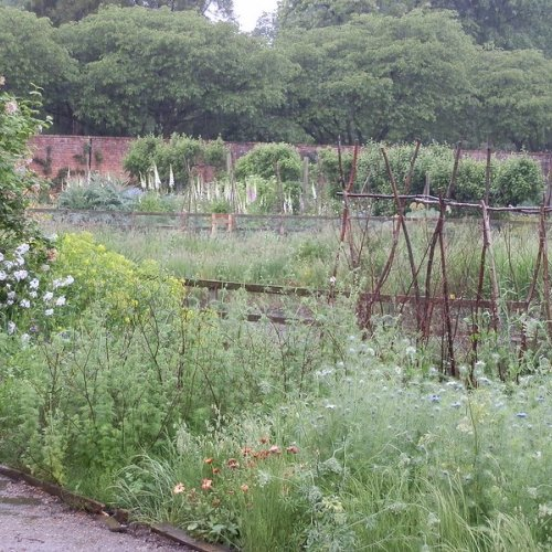 Walled kitchen garden, Doddington Hall, Lincolnshire.